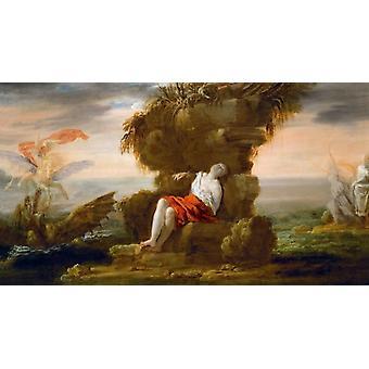 Perseus frigjøre Andromeda, Domenico Fetti, 40,5 x 72.5 cm
