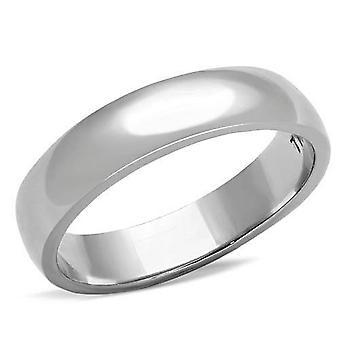 Ah! Smycken rostfritt stål Band Ring Set med simulerade diamanter