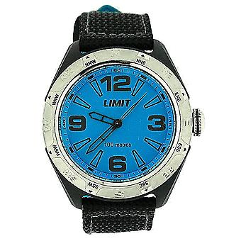 Limit Gents Analgoue Large Blue Dial 100M Water Resistant Nylon Strap Watch 5402
