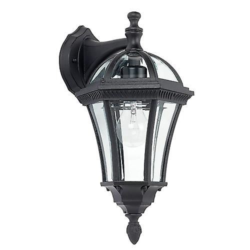 Endon YG-3501 Stylish Traditional Black Aluminium Outdoor Down Wall Lantern
