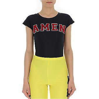 Amen Black/red Nylon T-shirt