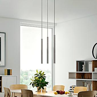 Modern Nickle LED Ceiling Light Fixture Hallway 3 Pendant Lamp Rectangular Canopy