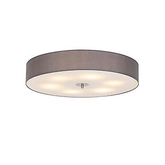 QAZQA Country Round Ceiling lampe 70cm Grey - Batterie