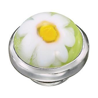 KAMELEON Green Meadow Murano Glass Sterling Silver JewelPop KJP533