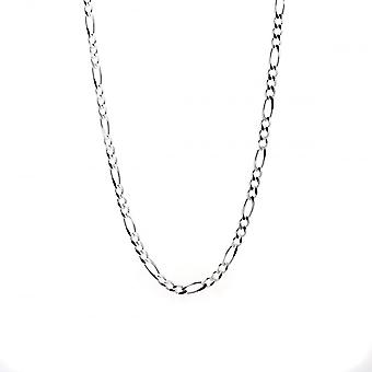 Eternity Sterling Silver 20'' Figaro Chain