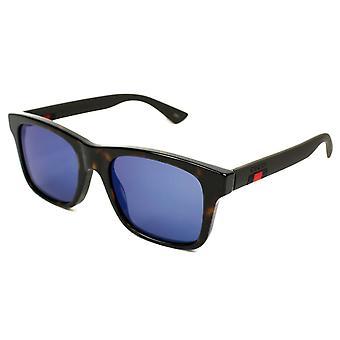 Gucci-blau Spiegel Kunststoff Sonnenbrille GG0008S-003