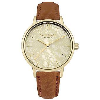 Daisy Dixon Womens Analogue Brown Quartz Gold Bezel Watch DD051TG