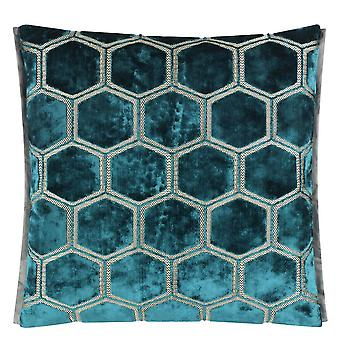Designers Guild Manipur Cushion In Azure