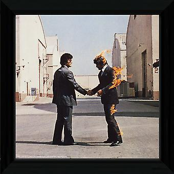 Pink Floyd Wish You Were Here Framed Album Cover Print 12x12in