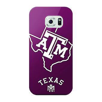 Mizco Sports NCAA Oversized Snapback TPU Case for Samsung Galaxy S6 (Texas A&M A