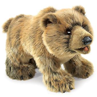 Hand Puppet - Folkmanis - Bear Grizzly New Animals Soft Doll Plush Toys 2954