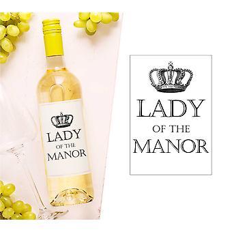 Lady av Manor vinflaske Label