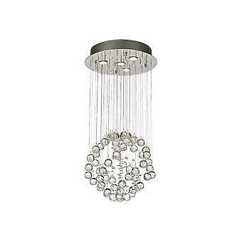 Diyas Colorado Pendant Small Sphere 4 Light Polished Chrome/Crystal