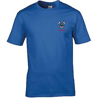 Queens Royal Lancers veteraan-gelicentieerd Britse leger geborduurd premie T-shirt