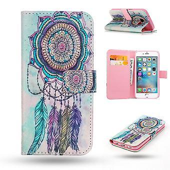 Iphone 6/6s Cas/portefeuille cuir-Dream catcher
