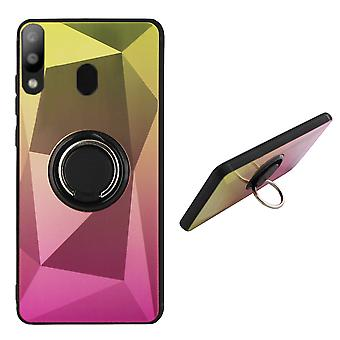 Anillo de la cubierta trasera / imán Aurora Samsung A50 oro + rosa