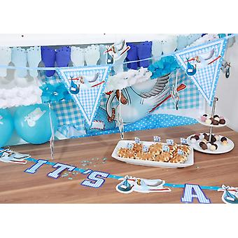 Party package birth boy blue 68-teilig kids birthday kids party