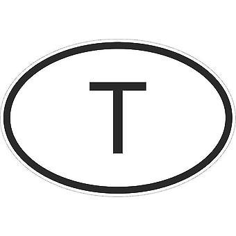 Autocollant Sticker Drapeau Oval Code Pays Voiture Moto Thailande Thailandais T