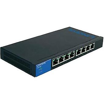 Network RJ45 switch Linksys LGS108P 8 ports 1 GBit/s PoE