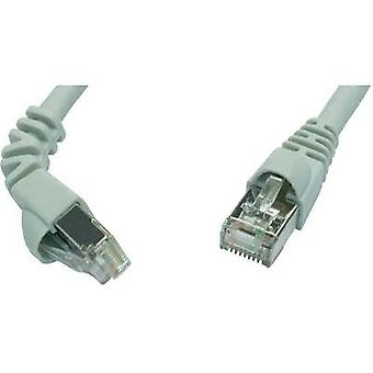 RJ49 Networks Cable CAT 6A S/FTP 1.5 m Grey Flame-retardant, incl. detent Telegärtner