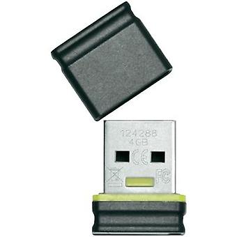 USB stick 4 GB Platinum Mini Black, Yellow 177534 USB 2.0