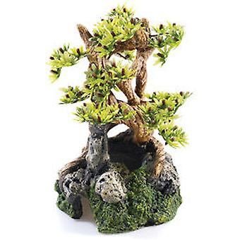 Classic For Pets Bonsai on Rocks 200mmT&OM (Fish , Decoration , Ornaments)