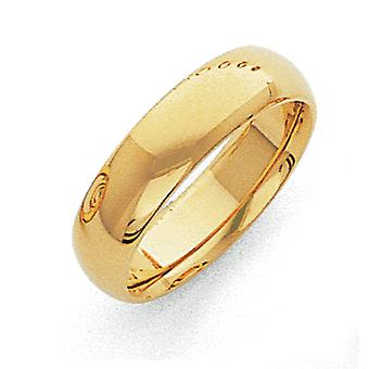 14 k solide polierte Schlossdrücker Lightweight Comfort Fit 6mm Light-Weight-Comfort-Fit Ehering Ring - Ringgröße: 4-1