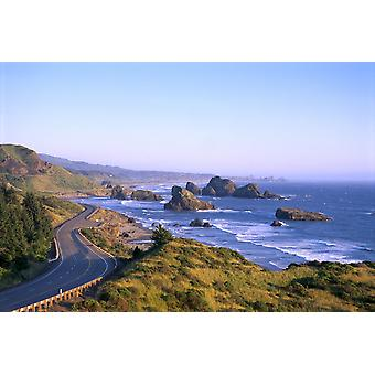 Oregon Coast Highway 101 And Pistol River State Park From Cape Sebastian B1644 PosterPrint