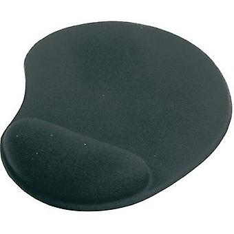 Mouse pad with wrist rest ednet Mauspad Black