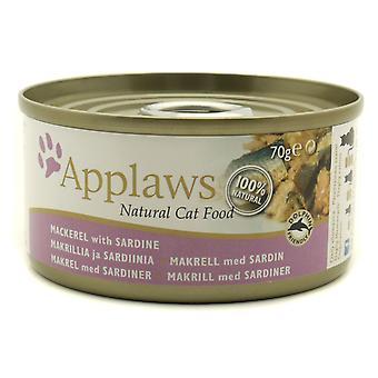 Applaws kat kan makrel med Sardine70g (Pack af 24)