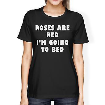 Roses Are Red Womens Black T-shirt Simple Graphic Shirt Funny Gifts