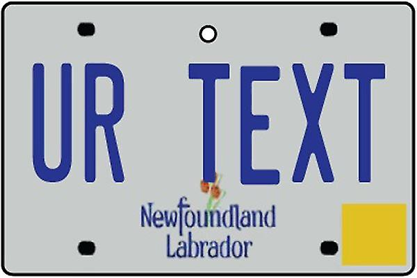 Custom Newfoundland And Labrador Numberplate Car Air Freshener