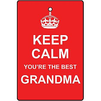 Keep Calm You're The Best Grandma Car Air Freshener