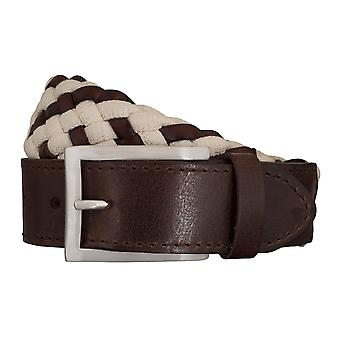 SAKLANI & FRIESE belts men's belts woven belt brown/white 5433
