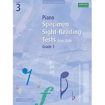 Piano Specimen Sight-Reading Tests Grade 3 (ABRSM Sight-reading) (Sheet music) by Abrsm