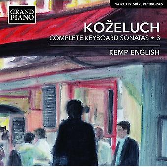 Kozeluch - Comp tastatur sonater vol. 3 [CD] USA importerer
