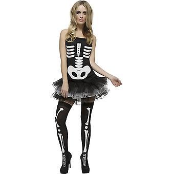 Skelett klänning feber skelett Tutu skelett kostym Womens Halloween