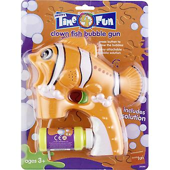 Clown fish bubble gun orange with solution