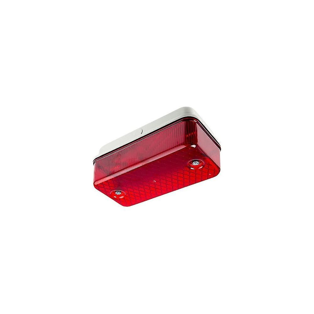Ansell Bulkhead 100W E27 Red Lens