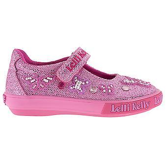 Lelli Kelly Butterfly LK9180 Pink Glitter Canvas Shoes