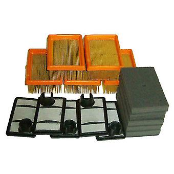 5 Air Filter Sets Paper, Foam & Flock Fits Stihl TS400 Cut Off Saw