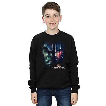 Marvel Boys Thor Ragnarok Hulk Split Face Sweatshirt