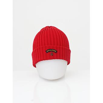 Paul and Shark Knitted Logo Beanie - Red