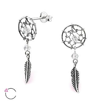 Dreamcatcher crystal from Swarovski® - 925 Sterling Silver Ear Studs