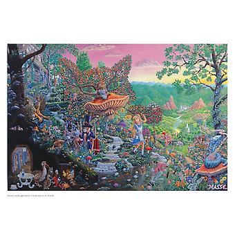 Tom Masse Wonderland Alice au pays des merveilles Poster Poster Print