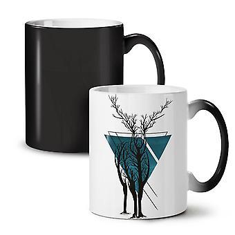 Nature Tree Art Animal NEW Black Colour Changing Tea Coffee Ceramic Mug 11 oz | Wellcoda