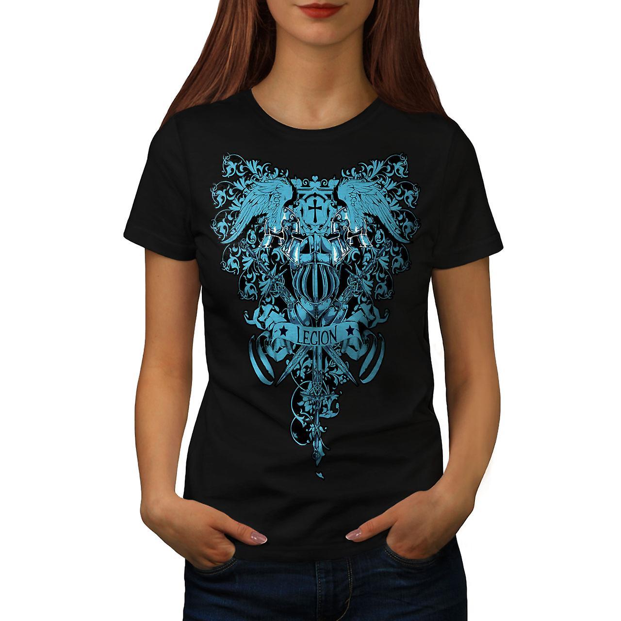 Death Legion Art Vintage Women Black T-shirt | Wellcoda