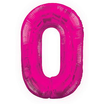 Unique Party 34 Inch Pink Glitz Number Balloon (0-9)