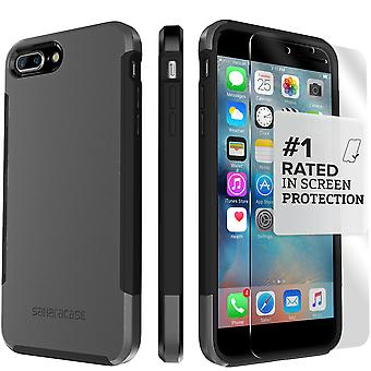 SaharaCase iPhone 8 Plus & 7 Plus Mist Gray Case, Inspire Protective Kit Bundle with ZeroDamage Tempered Glass