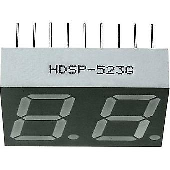 Seven-segment display Green 14.22 mm 2 V No. of digits: 2